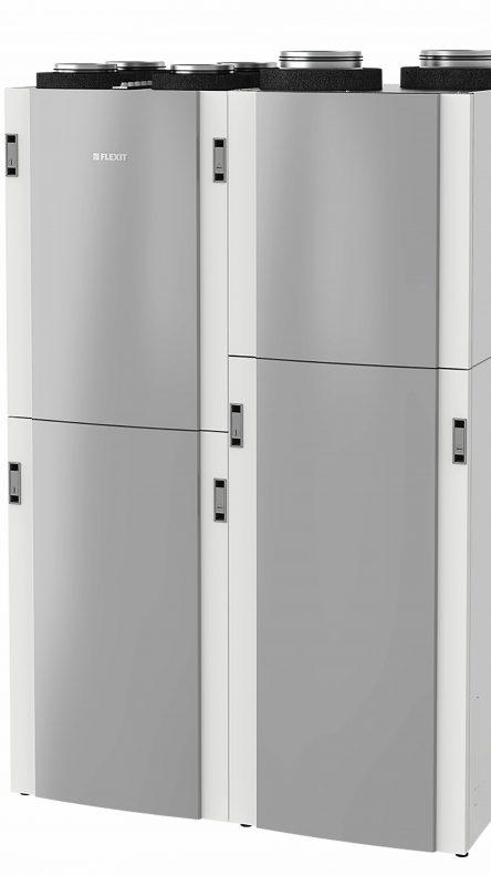 Slik ser EcoNordic ut med integrert ventilasjon, tappevann og varme.