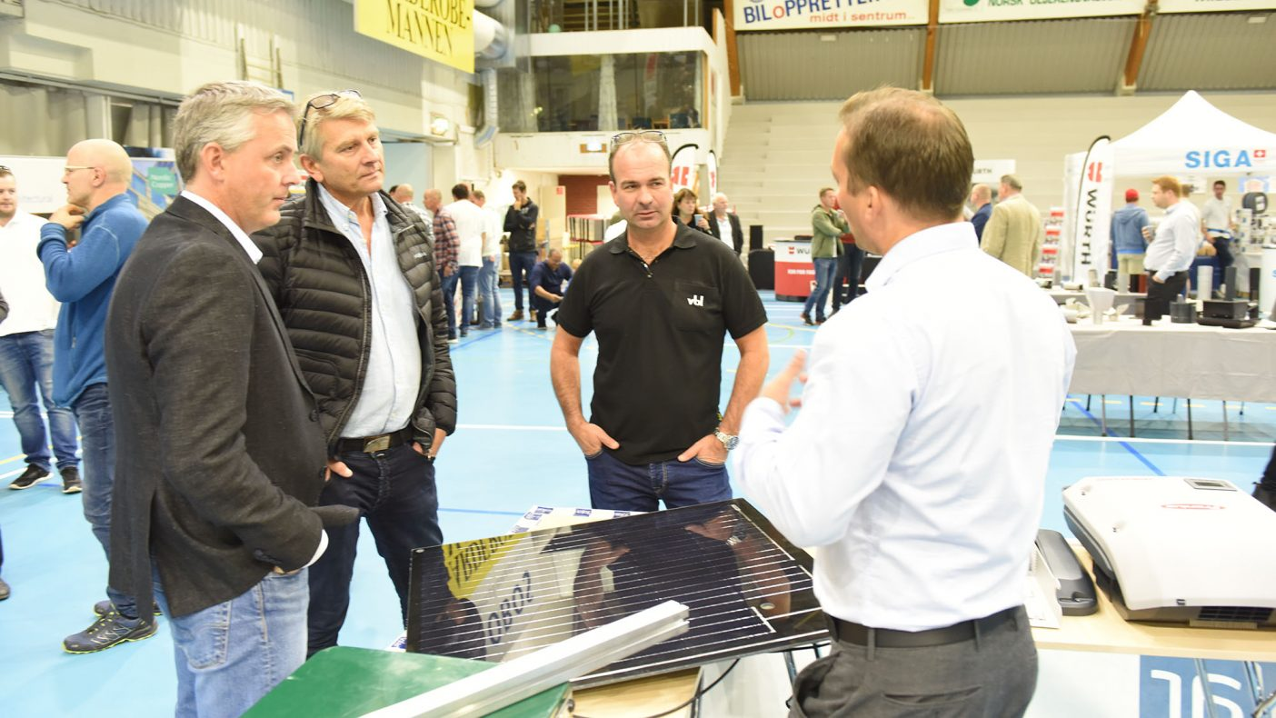 Tor Ove Jørgensen, Trond Opheim og Jarle Kristiansen i «solcelleprat».