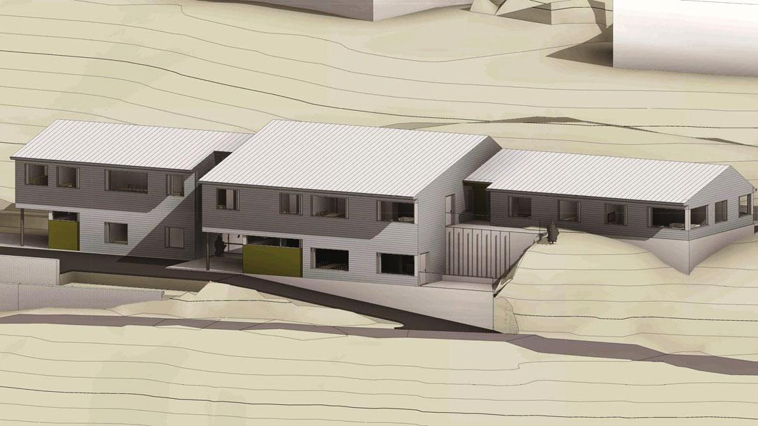 Bygget i Bergen for totalentreprise på byggautomasjon. Illustrasjon: Statsbygg