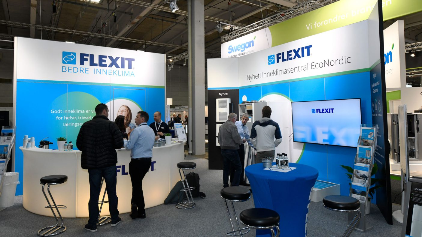 Flexit var en av mange som har stand på VVS-messen i Lillestrøm.