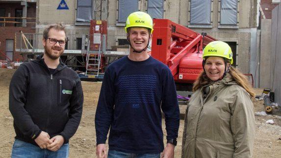 Norsk lærling fikk besøk i Danmark