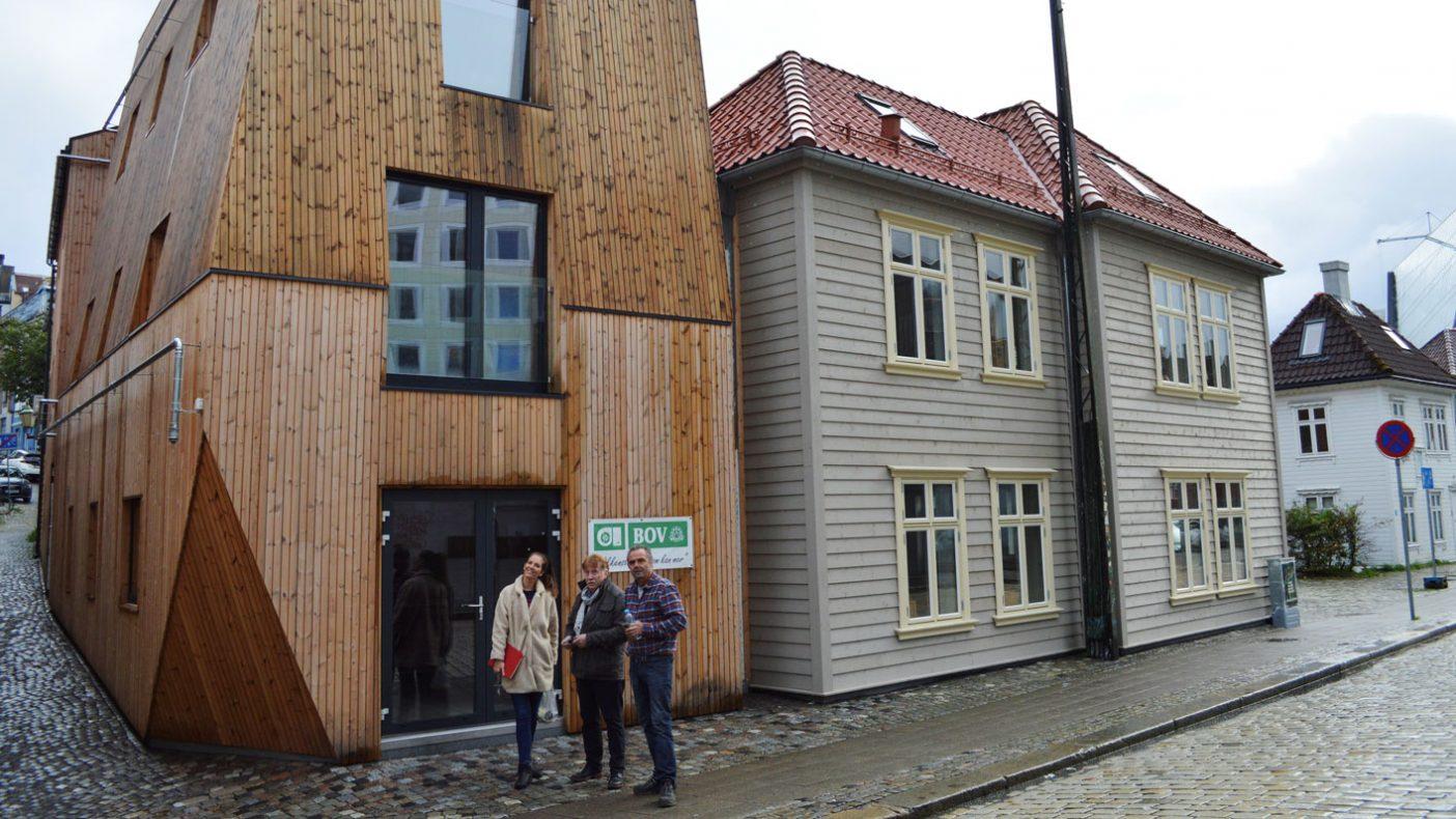 Gammelt hus er pusset opp og ny del bygd på til nytt senter for BOV.