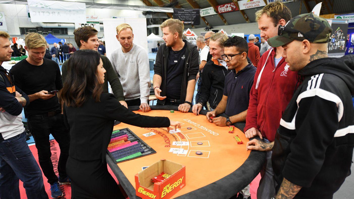 Utstillerne hadde ulike tilbud til publikum, slik som spill som engasjerer den yngre garde.