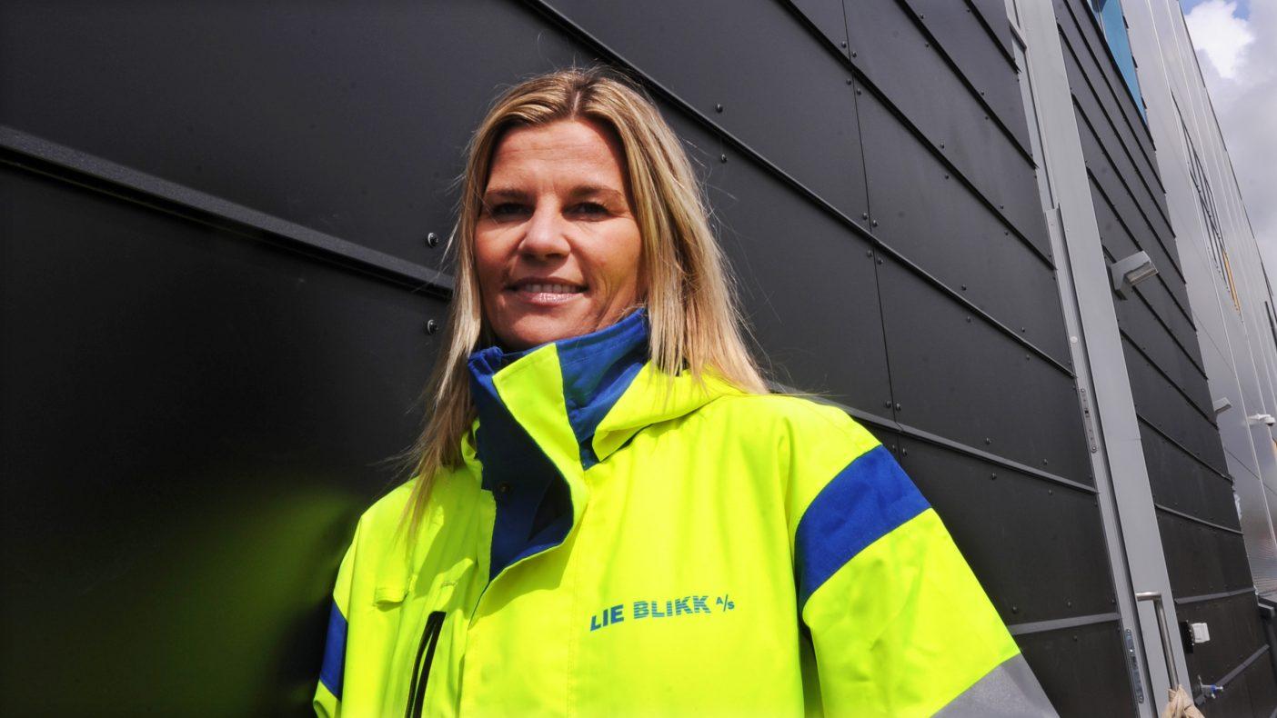 Kate Mariann Lie kan vise til at Lie Blikk AS er best i driftsmargin hos de største bedriftene.