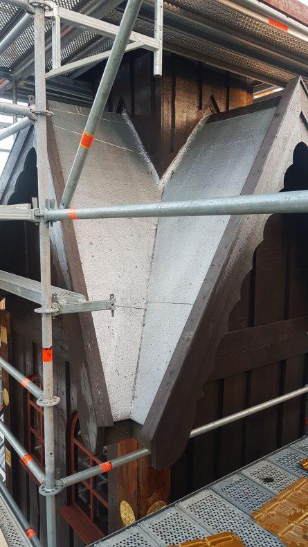 Her er taket som skivetekkingen skulle legges på.