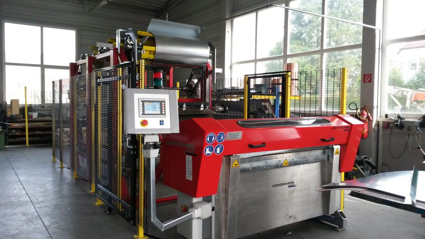 Denne Legionaire coil-maskinen blir demonstrert på Fasade´19.