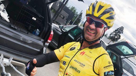 Fredag sykler Jarle for kreftsaken til Paris