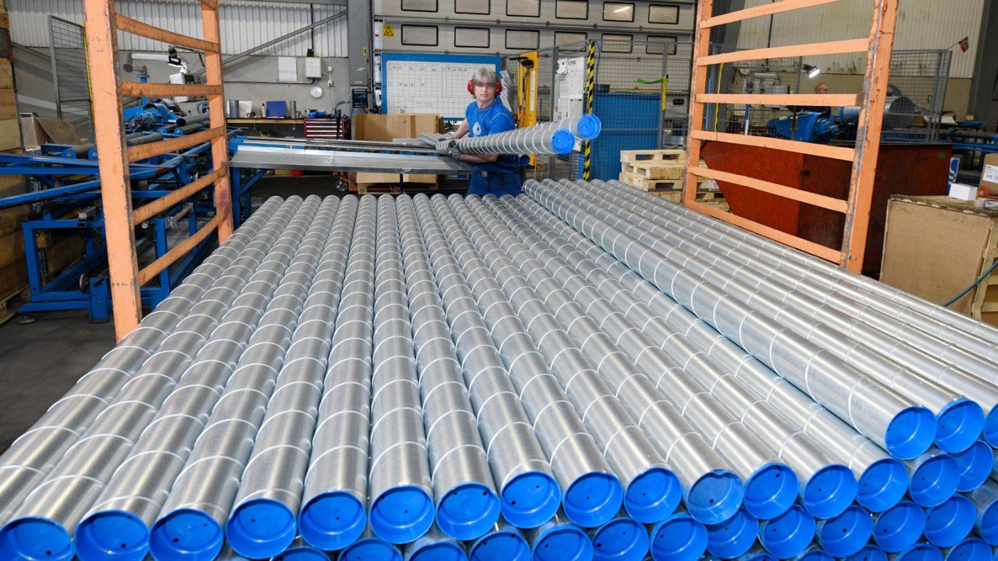 Kort levering av ventilasjonsutstyr og andre produkter er hovedfokus sammen med pris og kvalitet.