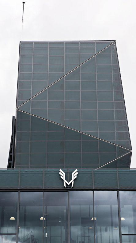 Bygget er 25 meter høyt.
