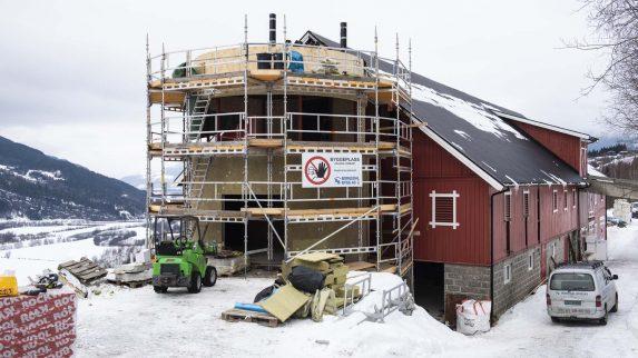 Blikk for hytter på Gudbrandsdalens tak