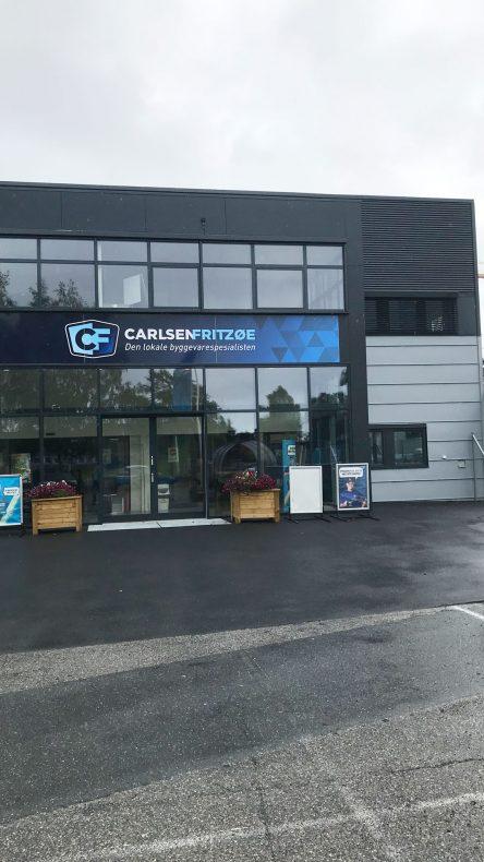 Carlsen Fritzøe har fått nye fasader utført av Hellberg & Bjerkeli AS og Blikk1 AS.