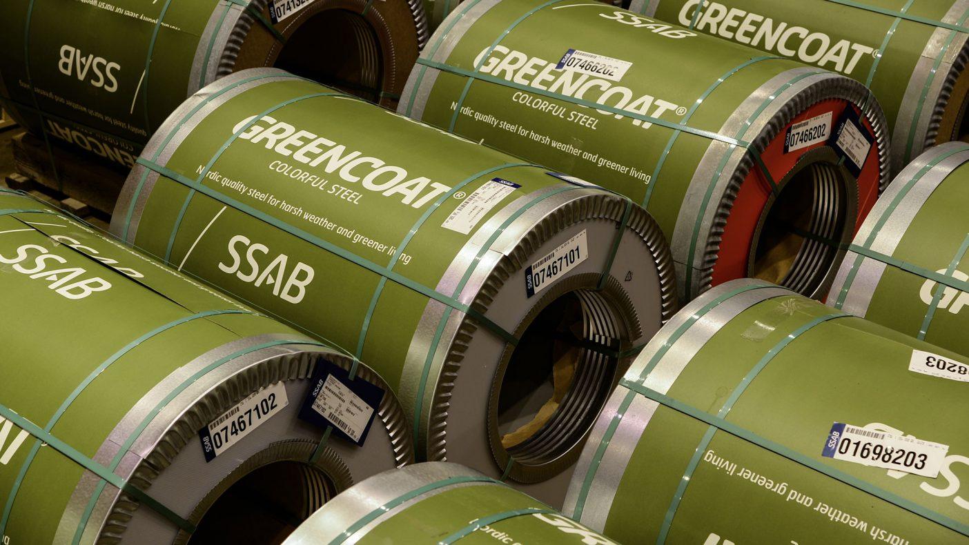 SSAB har hatt suksess med solsikkeolje i sin produksjon av GreenCoat.