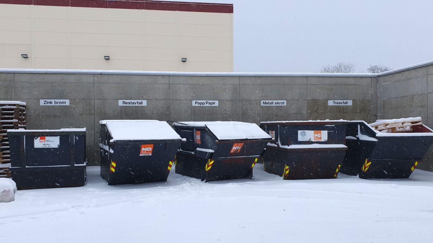 God sortering av alt avfall har lenge vært viktig for bedriften.