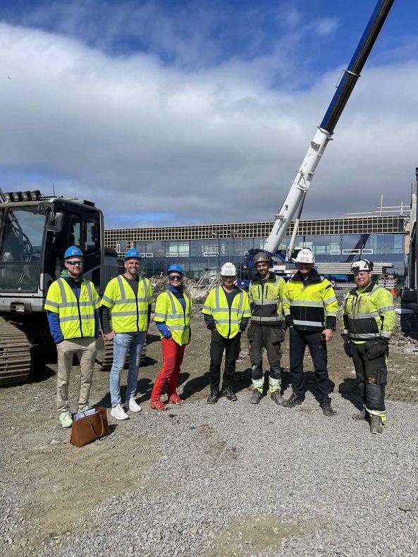 Lie Blikk var nylig på befaring på byggeplassen og møtte Øksnes Entreprenør.
